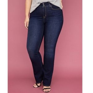 Lane Bryant Distinctly Boot Cut Dark Wash Denim